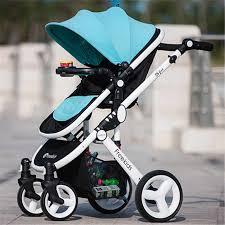 Leather <b>luxury</b> Parabebe <b>Baby Stroller</b> Four Wheels High ...