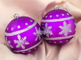 <b>Украшение СИМА-ЛЕНД Набор шаров</b> Парад снежинок 2шт ...