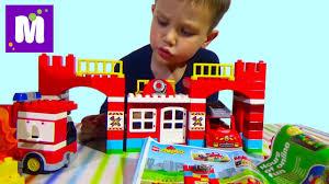 <b>Пожарная</b> станция <b>Лего Дупло</b> 10593 играем в <b>конструктор</b> с ...