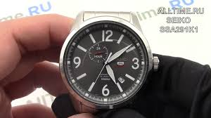 Обзор. Японские наручные <b>часы Seiko SSA291K1</b> - YouTube