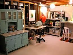 unfinished basement office ideas basement office ideas
