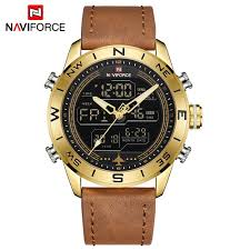 NAVIFORCE NF9144 <b>Men Sport Watch Fashion</b> Digital Army Military ...