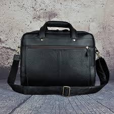 Bags Men 100% <b>Genuine Leather Vintage</b> Briefcase Attache 15 ...