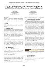 (PDF) The Birl: An <b>Electronic</b> Wind <b>Instrument</b> Based on an Artificial ...