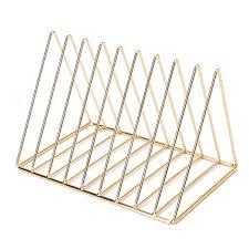 Trianglular Wire <b>Magazine Rack</b> / <b>Desk</b> Organizer, 9 Slots ...