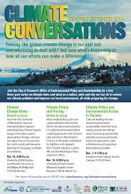 event it s time to put a price on pollution institute climate conversations flyer by city of tacoma used permission