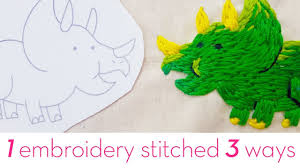 <b>1 embroidery</b> stitched 3 different ways | how to <b>embroider</b> by hand ...