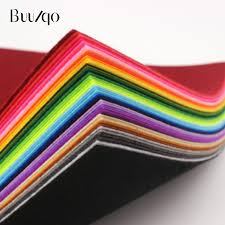 20pcs/<b>lot</b> 15x15cm Mix Colors Non Woven Felt Fabric <b>1mm</b> ...