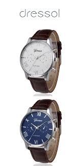 <b>geneva men</b> fashion <b>leisure</b> and simple belt quartz watch#<b>men</b> ...