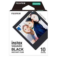 <b>Fujifilm Instax Square Black</b> Film - 10 Exposures: FUJIFILM: Amazon ...