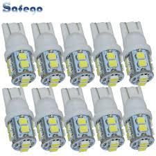 Safego <b>10pcs</b> W5W <b>T10 194</b> 168 LED Car Clearance Wedge Bulbs ...