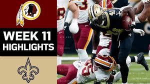 Redskins vs. Saints   NFL Week 11 Game Highlights - YouTube
