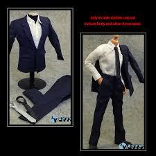 <b>1/6 Scale Male</b>/<b>Man</b> ZY TOYS Blue Office Gentleman Shirt Suit ...