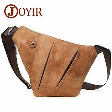<b>JOYIR Genuine Leather</b> Chest Bag for Men Crossbody Men's ...
