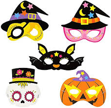 Vosarea 10 Pieces of Cartoon <b>Halloween Mask Decorative</b> Paper ...