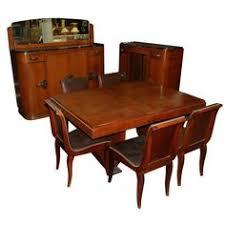 eleven piece three chairs not shown walnut burl art deco dining suite art deco dining suite