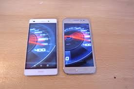 Samsung Galaxy J5 vs Huawei P8 lite - Speed Test HD - YouTube