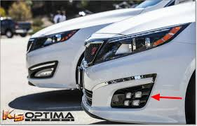 2014-2015 Kia Optima Dual Colored Quad <b>LED Fog Lights</b>