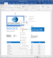 how to make an invoice in word from a professional template bring up the logo placeholder menu
