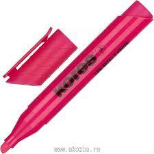 """<b>Kores Маркер выделитель</b> текста """"<b>Kores</b>"""" 1-4 мм, розовый"""