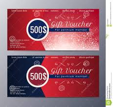 christmas gift voucher template colorful modern style stock christmas gift voucher template colorful modern style