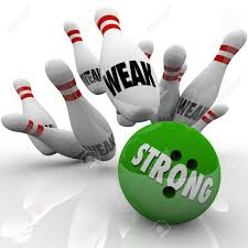 strength and weakness images stock pictures royalty strength weakness strong bowling bowl strikes pins marked weak to illustrate the strength of competitive