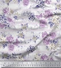 Soimoi 115 GSM <b>Viscose</b> Rayon Butterfly & <b>Floral Printed</b> 58 Inches ...