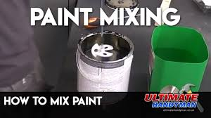 How to <b>mix paint</b> - YouTube