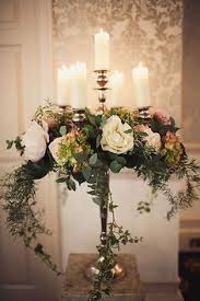 ivy decor tall candelabra floral candelabra wedding reception centerpiece  floral candelabra wed