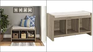 storage bench for living room: living room furniture benches altra furniture sonoma oak storage bench with beige cushion