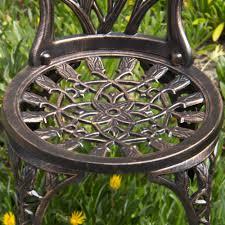 best choice products cast aluminum patio bistro furniture set in antique copper walmartcom alexandria balcony set high quality patio furniture