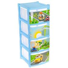 <b>Комод</b> для игрушек <b>City</b> Cars, 4 выдвижных ящика, цвет голубой ...
