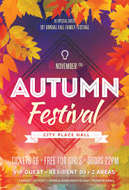 psd flyer templates for autumn elebration party icanbecreative psd flyer template