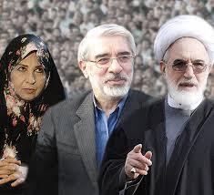 Afbeeldingsresultaat voor موسوی و کروبی و رهنورد