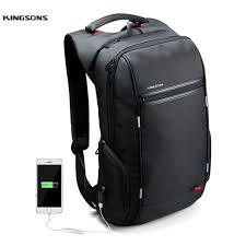 <b>15 inch</b> A Kingsons Anti-Theft 15 Laptop Backpack External <b>USB</b> ...