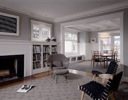 benjamin moore white dove for a traditional living room with a white painted trim and sheri chatham home office decorator