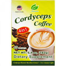 Растворимый кофе Longreen, <b>Cordyceps Coffee</b>, <b>4 в</b> 1, кофе с ...