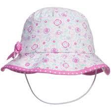 <b>ARCHIMEDE</b> Baby Girls Pink Pastel Floral SunBeach Hat
