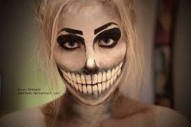 skeleton makeup by lekstedt half skull makeup tutorial