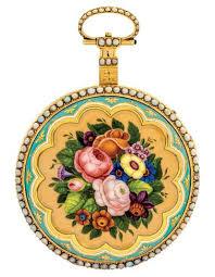 """""""Bouquet de Fleurs"""" enamel, <b>musical pocket</b> watch offered in ..."""