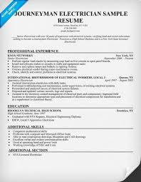 Resume Templates   Electrician Apprentice Resume    Electrician     Threehorn com
