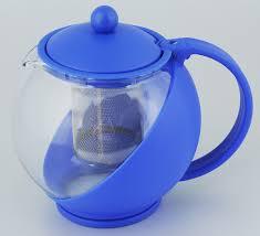"<b>Чайник заварочный</b> Bekker ""Koch"", с фильтром, цвет: синий, 1,25 л"