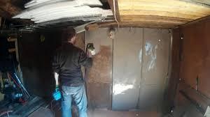 Покраска гаража краскопультом <b>BORT BFP</b>-<b>500</b> - YouTube