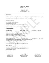 how to write a legal assistant resume no experience best sample resume for legal assistants