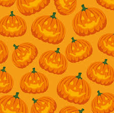 Free Vector | <b>Halloween</b> card with <b>pumpkin pattern</b> background