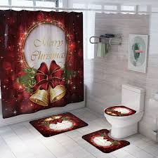 <b>4 Pcs</b> Christmas Bathroom Sets,<b>4PCS</b>/Set <b>Merry Christmas</b> ...