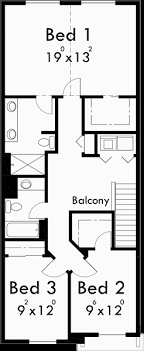 Narrow Lot House Plans  Small House Plans With Garage  Upper Floor Plan for Narrow lot house plans  small house plans   garage