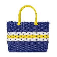 <b>Корзина</b> плетеная в полоску голубой <b>La Redoute</b> Collections | La ...