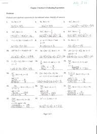 mhs diaz algebra honors unit equations and inequalities evaluating expressions page 1