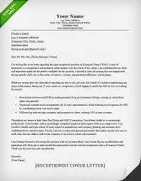 cover letter example receptionist classic receptionist cl classic writing a cover letter example